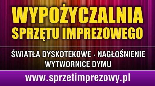 Wypożyczalnia sprzętu imprezowego: światła, nagłośnienie -  Bydgoszcz